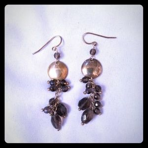 Chocolate and gold dangle earrings!